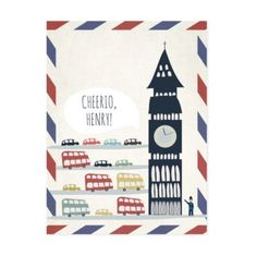 London is calling your name, literally.  Personalized wall art features a bevy of London icons like Big Ben and double-decker buses.  Order of fish 'n chips not included. Details, details A Rachel Mosley design Artwork is digitally printed for unmatched color and clarity that's true to the original art Canvas wraps around the sides providing a finished decorative edge Personalize wall art with a child's name in Dk.