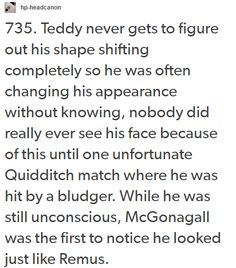 teddy lupin - pass me the broom, my heart just shattered