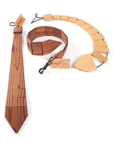 Wooden necktie. i started making one of these and i think my teacher thought it was scrap and threw it away.