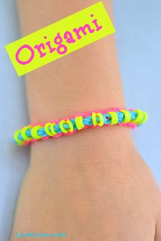 for easy Rainbow Loom patterns ? You will love the Origami Bracelet ...