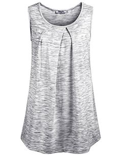 Dressy Tank Tops for Women,Hibelle Ladies Scoop Neck Sleeveless Tunic Retro Tee Shirts and Blouse Loft Clothing Plus Size Light Grey XX-Large Special Offer: $26.99 344 Reviews Features: Sleeveless Scoop neckline Pleated front Pullover styling Size Chart: Medium :Length:...