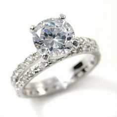 Sterling Silver Double Band CZ Eternity Engagement Band Ring -- Size 7 PammyJ Ring. $39.99