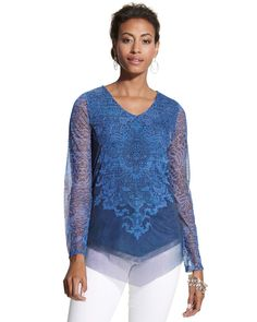 Spring Horse Textured Lace Charm Top