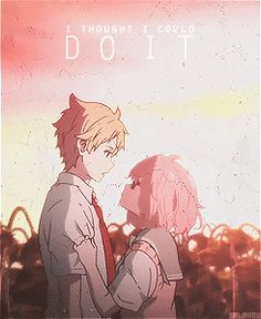 Image result for kyoukai no kanata square gif small