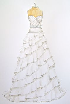 Forever Your Dress / Custom Wedding Dress Illustrations
