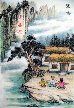 Ink Painting: Practice Steadfast | Falun Dafa - Minghui.org