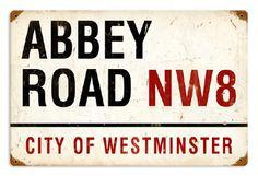 BEATLES ABBEY ROAD Metal Sign Street LONDON Plaque Gift Retro Vintage Man cave
