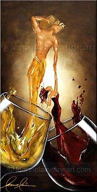 Fine Wine Art, Wine Paintings, Wine Prints, Women in Wine Artist Leanne Laine Paint And Drink, Wine Painting, Wine Photography, Cafe Art, In Vino Veritas, Wow Art, Art Original, Fine Wine, Oeuvre D'art
