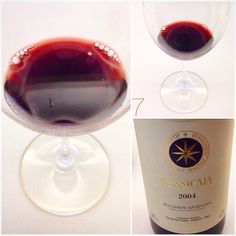 BOLGHERI SASSICAIA SASSICAIA 2004 Tenuta San Guido  Toscana  Cabernet Sauvignon 85% Cabernet Franc 15%  Granade  Sweet nose  #Maquis #Graphite myrtle juniper rhubarb  Typical Mouth of Sassicaia Sapid Fresh   Fruity Red Orange #Bergamot Tannic  cardamom rhubarb Saline AND LONGLASTING  Tannins are still bitter and young CONCRETE and EASY   2004 Sunny spring Hot and Sunny Summer with an homogeneus growth Of THE grapes  Barrique 24months  Castagneto Carducci  Livorno www.sassicaia.com #Since1940…