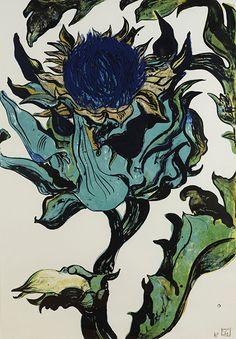 Sarah Graham artist, lithograph, Reed Gallery, London