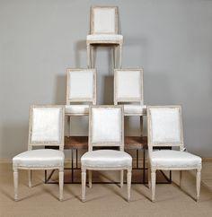 Wonderful Set of Louis XVI Chairs at Lindholm Antiques