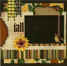 Fall Fun - 12x12 Premade Scrapbook Page via Etsy