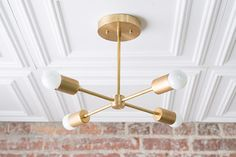 Gold Sputnik Light Geometric Chandelier Semi Flush