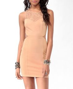 I want !!! Lace Trim Bodycon Dress | FOREVER 21 - 2011131951