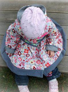 Mantel für kleine Mädchen - Nähanleitung via Makerist.de