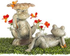 These adorable frogs will certainly add some charm to your garden