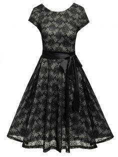 Black Short O Vintage Style Dress