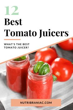 Looking for the perfect tomato juice juicer? In our helpful buying guide, we talk about everything from how to make tomato juice with a juicer to finding the best tomato juicer for you and your family. #canningtomatojuicewithjuicer #tomatojuicerecipesjuicer #bestjuicer #bestjuicermachine #juicingforbeginners #tomatojuiceinjuicer