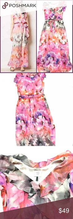 HD Paris floral dress Such a show stopper so gorgeous on and comfortable price firm Anthropologie Dresses Maxi