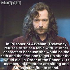 Harry Potter / Hogwarts / Trelawney / Sirius Black / Order of the Phoenix