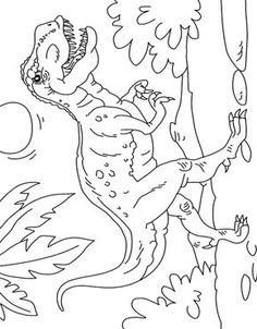 Dibujo colorear Tiranosaurio Rex escena Dinosaur Coloring Pages, Animal Coloring Pages, Cute Coloring Pages, Coloring Books, Dinosaur Crafts, Dinosaur Party, Coloring Sheets For Kids, Adult Coloring, Dinosaur Worksheets