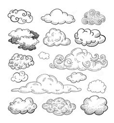 Doodle Collection Of Hand Drawn Vector Clouds.- Doodle Collection Of Hand Drawn Vector Clouds. Stock Vector … – Doodle Collection Of Hand Drawn Vector Clouds. Doodle Drawings, Doodle Art, Doodle Frames, Rose Doodle, Doodle Tattoo, Doodle Sketch, Sketch Note, Bullet Journal Inspiration, Doodle Inspiration