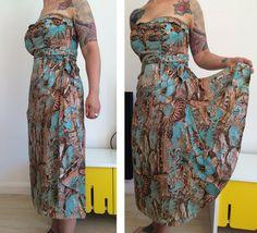 années 1950 paréo en soie sans bretelles robe par MidCenturyGoodies
