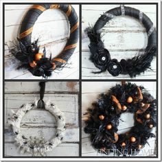 Easy to make Halloween Wreaths