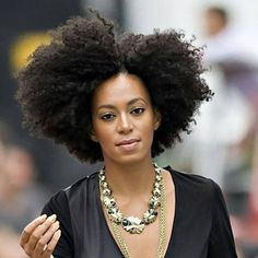 Solange. Queen of all things natural. #Fierce