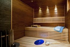 Would so love a sauna in our house! Sauna Lights, Finnish Sauna, Sauna Room, Spa Rooms, Mood Light, Western Red Cedar, Home Spa, Extra Seating, Saunas