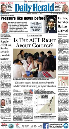 Daily Herald front page, Dec. 15, 2014; http://eedition.dailyherald.com/