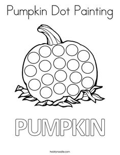 Good Painting Coloring Pages 85 Pumpkin Dot Painting Coloring