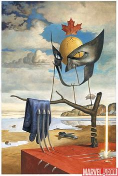 Wolverine as illustrated by Salvador Dalí.