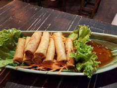 Fried spring rolls from Gu Thai Noodle Cafe at POMO