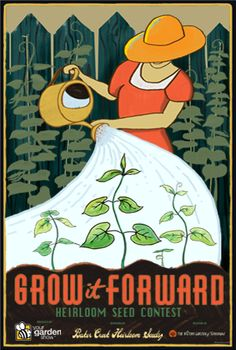 Enter the contest that keeps on giving and help Grow It Forward for future generations! The first 1,000 contest entrants will receive free heirloom seeds, so sign-up today and tell your friends.    Find out how to enter: http://www.yourgardenshow.com/grow-it-forward    Poster by Joe Wirtheim of The Victory Garden of Tomorrow: http://www.facebook.com/victorygardenoftomorrow