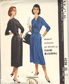 McCalls 4228 Claire McCardell 1957 Dress Pattern UNCUT [4228] - $250.00 : The Vintage Cache, Best of Vintage and Modern Merchandise