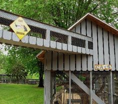 enclosed cat pen for outside | OUR CAT HOUSE. OUR SPOILED HOUSE CATS HAVE AN OUTDOOR
