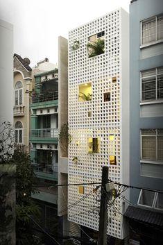 Celosías como inspiración cerámica / Casa Q10