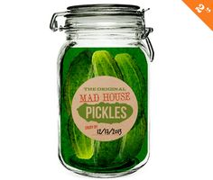 Pickles Labels Pickle Canning Label Pickle by WAGlacierGraphics ...