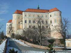 Castle of Mikulov in southern Moravia, Czech Republic
