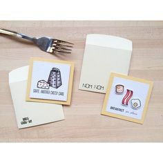Cards created by designer Thanh Vo using the Sweet Stamp Shop Bacon Break and Cheesy Card stamp sets