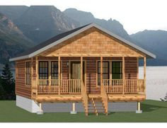 17 Eye-popping Guidelines For Log Home Plans, Small House Plans, Log Cabin Floor Plans, Small Log Cabin Plans, Small Cabins, Barn Plans, The Doors, Garages, Cute Small Houses