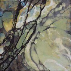 """Matrix 20"""" x 20""""   encaustic by Tania Dibbs   taniadibbs.com/blog"""