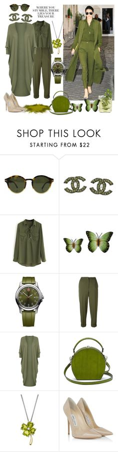 """""""Cardigan #2 #cutecardigan #cardigan #springlayers #fabulous #trendy #green # #chilling #"""" by thedistinctiveme ❤ liked on Polyvore featuring Tom Ford, Chanel, WithChic, NOVICA, Victorinox Swiss Army, Alexander McQueen, WearAll, Bertoni, Lord & Taylor and Jimmy Choo"""