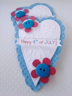 July 4th scrapbook embellishments hearts by chucklesandcharms, $2.75