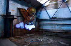 Angel Sculpture Installation by Shane Grammer, via Behance