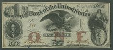 1852 Bank of the United States Dollar Bill