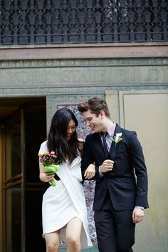 15 City Hall Brides Who Nailed It #refinery29  http://www.refinery29.com/city-hall-wedding-brides-photos#slide-15  Lovely! ...