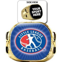 Little League Rings Baseball Trophies, Little League Baseball, Championship Rings, World Series, Victorious, Awards, Crown, Crowns, Corona