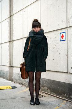 Rebecca, 15, from Copenhagen Street Style.  love her look.